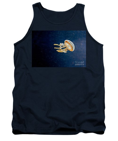 One Jelly Fish Art Prints Tank Top by Valerie Garner