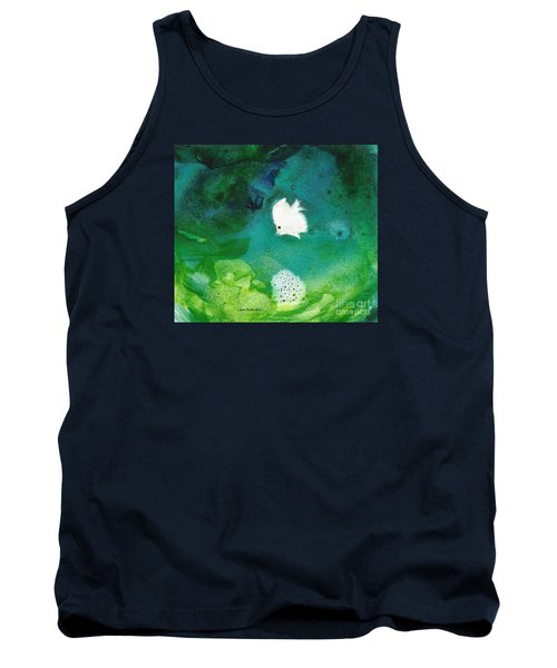 Tank Top featuring the painting One White by Joan Hartenstein