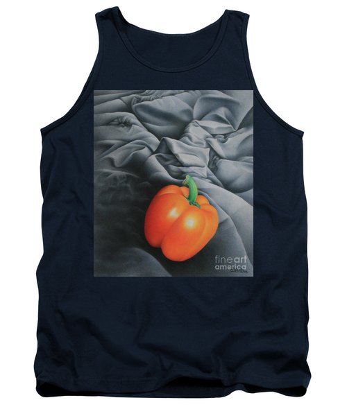 Tank Top featuring the painting Only Orange by Pamela Clements