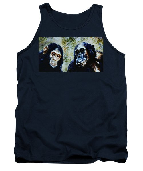 Tank Top featuring the painting Our Closest Relatives by Hartmut Jager