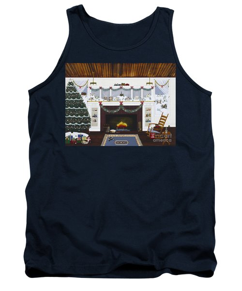 Tank Top featuring the painting Our First Holiday by Jennifer Lake