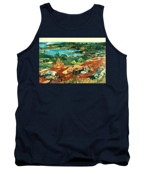 Overlooking The Bay Tank Top by Robin Birrell