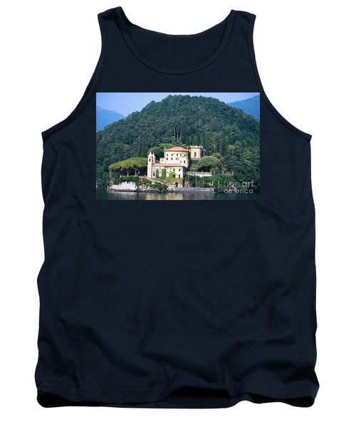 Tank Top featuring the photograph Palace At Lake Como Italy by Greta Corens