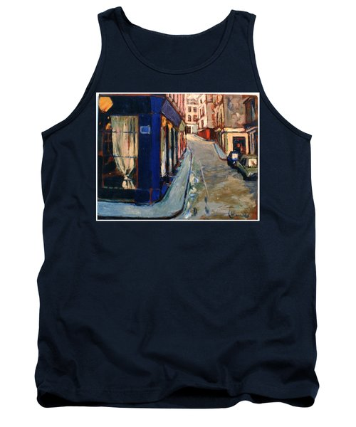 Tank Top featuring the painting Paris Cityscape by Walter Casaravilla