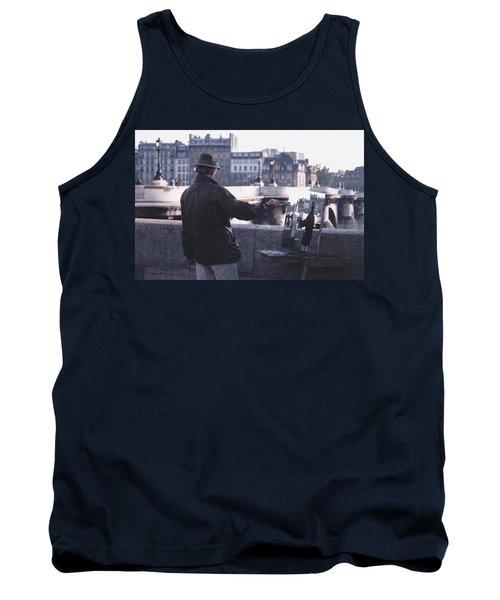 Tank Top featuring the photograph Paris Painter Inspiration Magritte by Tom Wurl