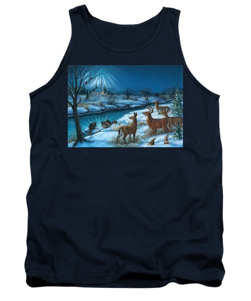 Peaceful Winters Night Tank Top