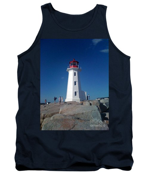 Peggy's Cove Lighthouse Tank Top by Brenda Brown