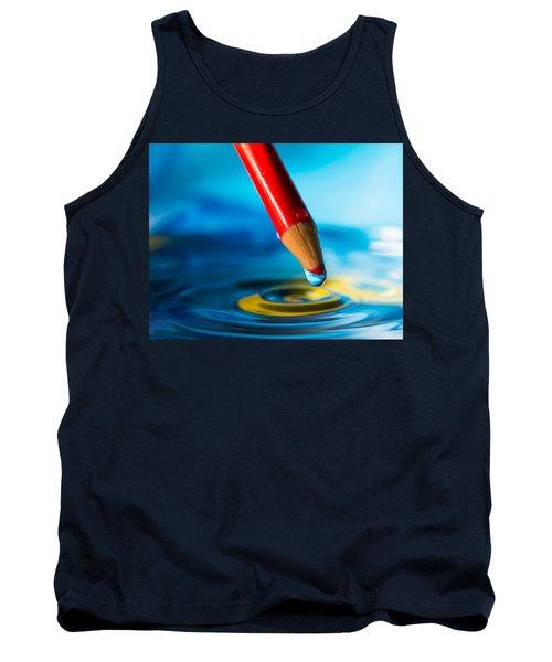 Pencil Water Drop Tank Top