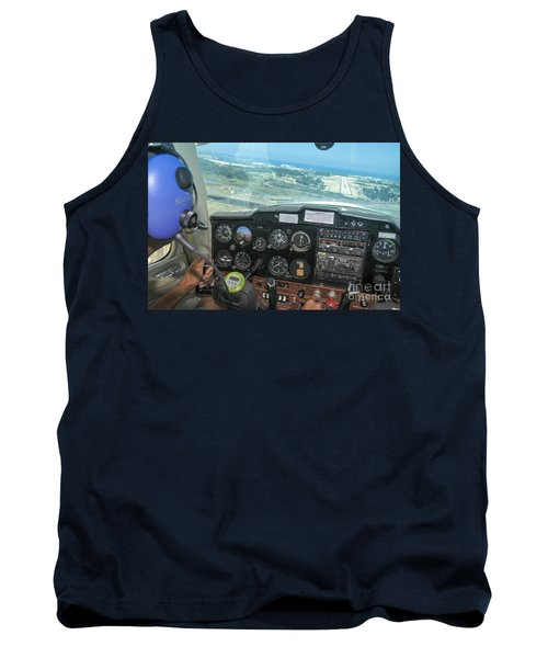 Pilot In Cessna Cockpit Tank Top