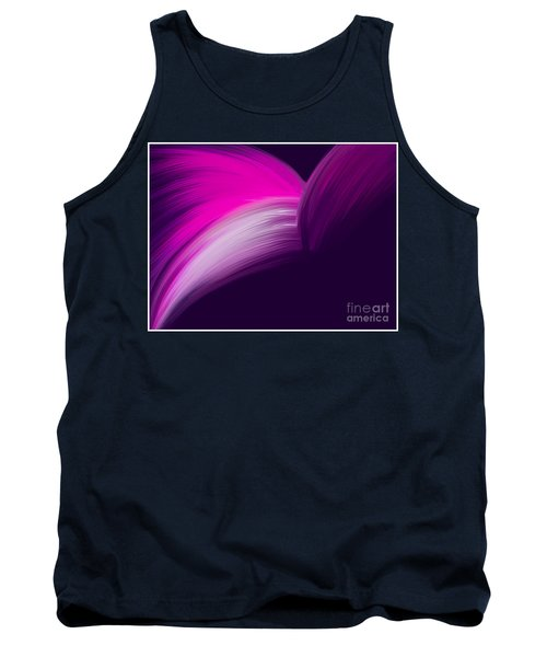 Pink And Purple Curves Tank Top