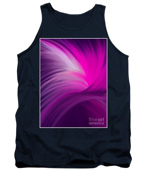 Pink And Purple Swirls Tank Top