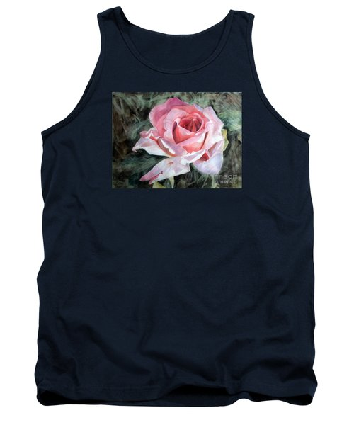 Pink Rose Greg Tank Top by Greta Corens