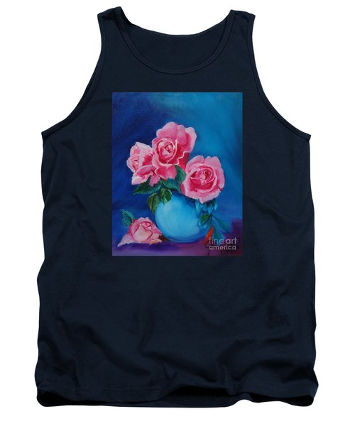 Pink Roses Tank Top by Jenny Lee
