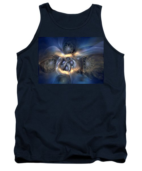 Tank Top featuring the digital art Pleasant Effusion by Casey Kotas