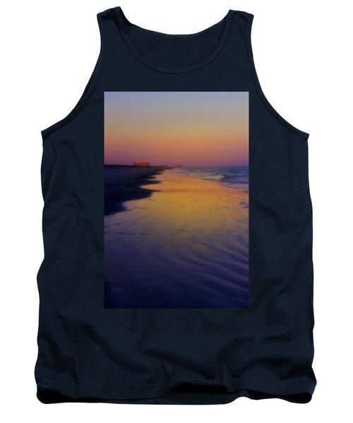 Tank Top featuring the photograph Port Aransas Sunset by Ellen Heaverlo