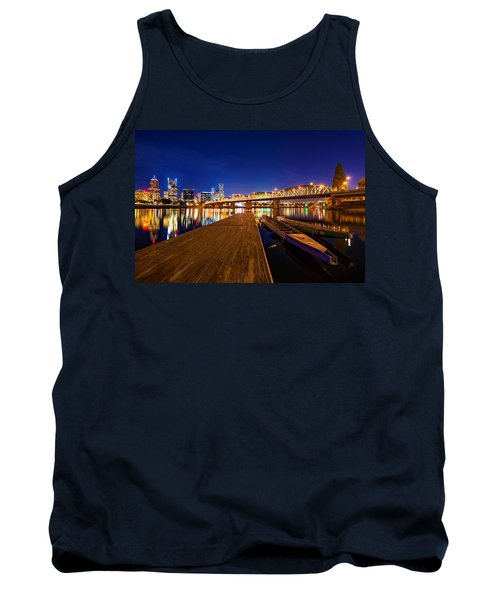 Tank Top featuring the photograph Portland Under The Stars by Dustin  LeFevre