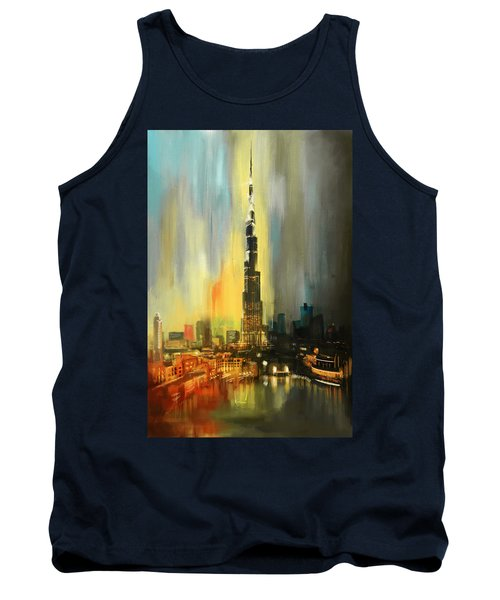 Portrait Of Burj Khalifa Tank Top by Corporate Art Task Force