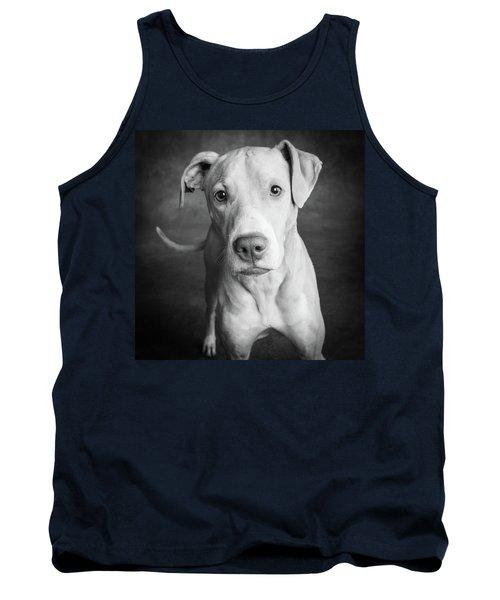 Portrait Of Lab Hound Mix Dog Tank Top