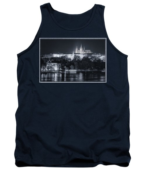 Tank Top featuring the photograph Prague Castle At Night by Joan Carroll