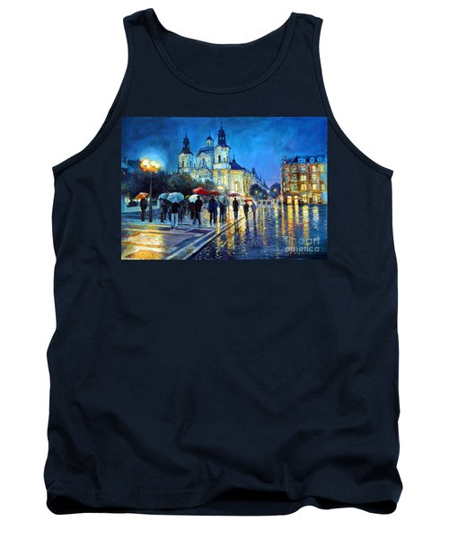 Prague Old Town Square  View Of Street Parizska And St.nicolas Church Tank Top