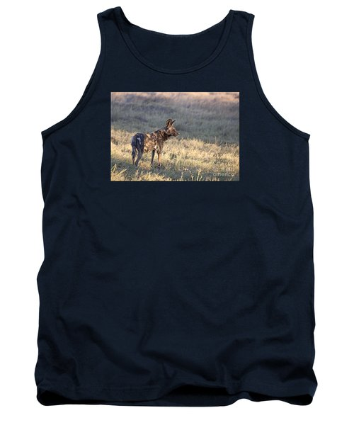 Tank Top featuring the photograph Pregnant African Wild Dog by Liz Leyden