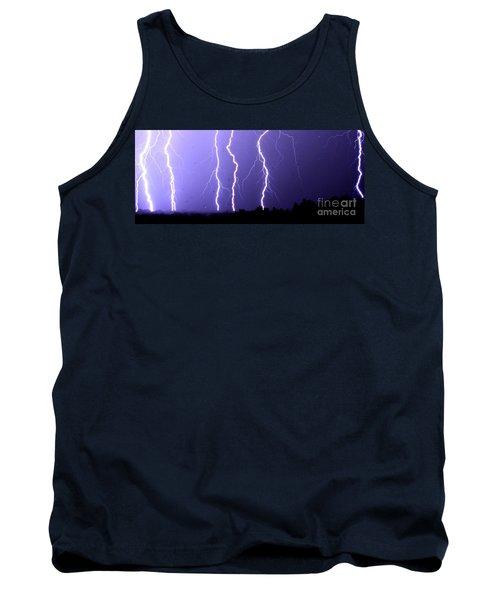 Purple Rain Lightning Tank Top