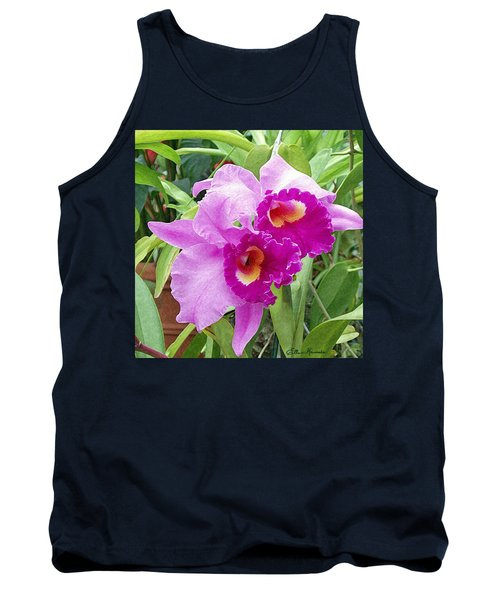 Purple Cattleya Orchids Tank Top