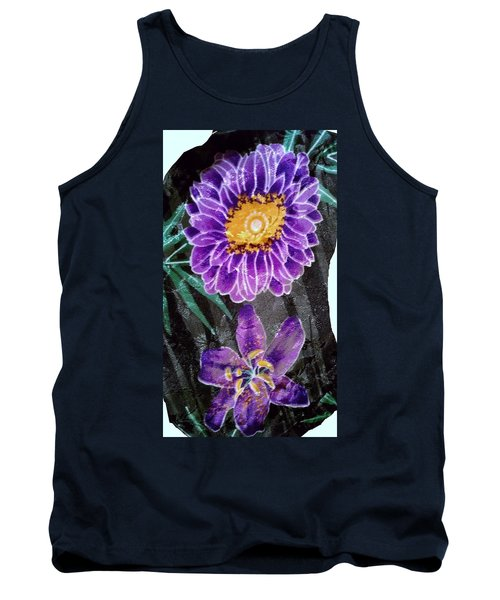 Tank Top featuring the photograph Purple Silk by Fortunate Findings Shirley Dickerson