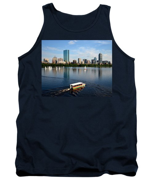 Rainbow Duck Boat On The Charles Tank Top