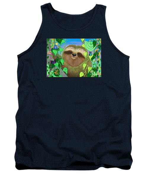 Rainforest Sloth Tank Top by Nick Gustafson
