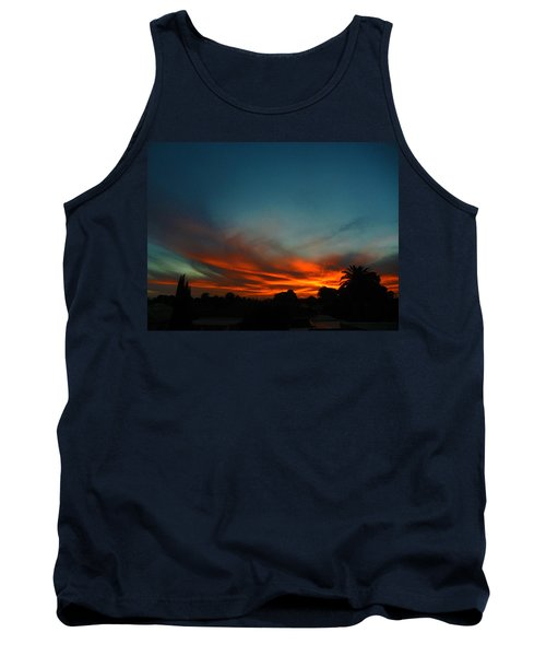 Red And Green Sunset Tank Top