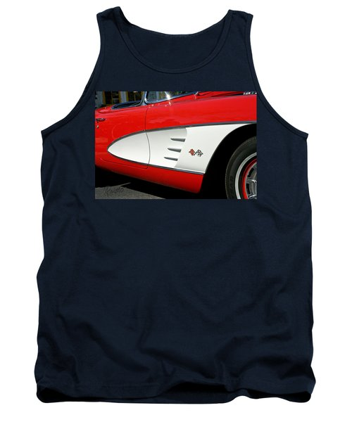Red Corvette Tank Top