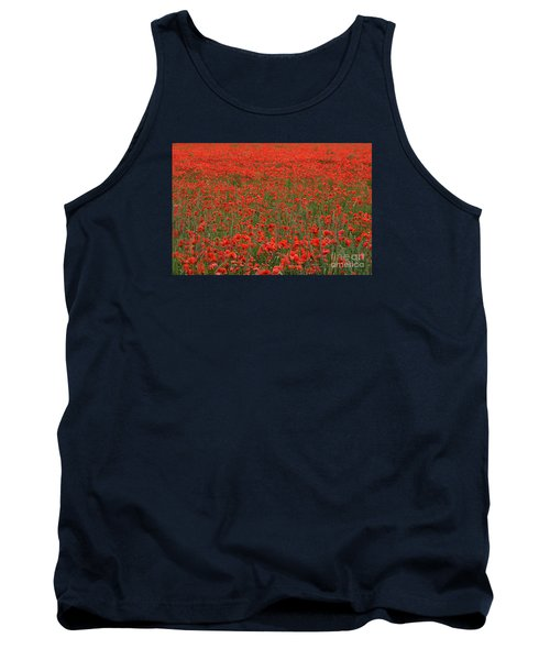 Tank Top featuring the photograph Red Field by Simona Ghidini