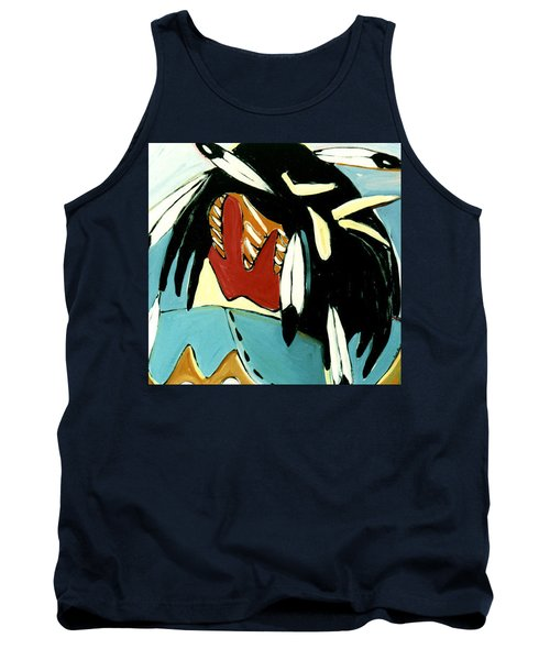 Red Indian Tank Top by Lance Headlee