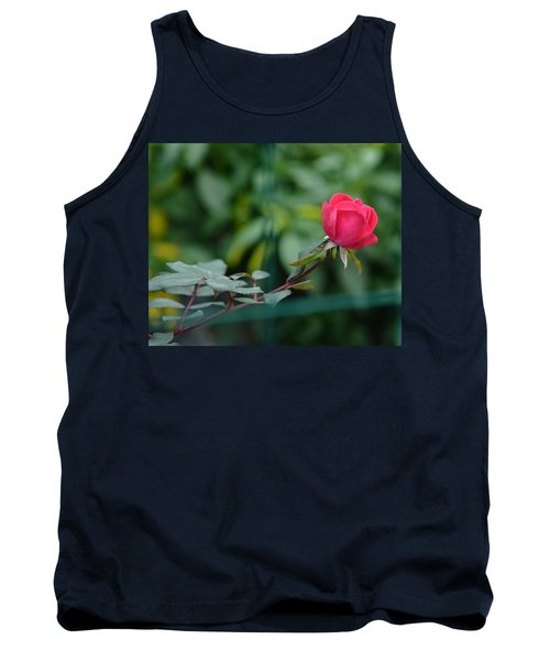 Tank Top featuring the photograph Red Rose I by Lisa Phillips