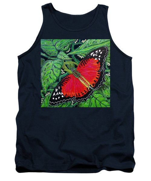Red Butterfly Tank Top