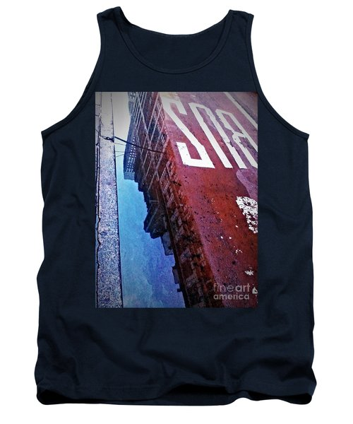 Tank Top featuring the photograph Reflecting On City Life by James Aiken