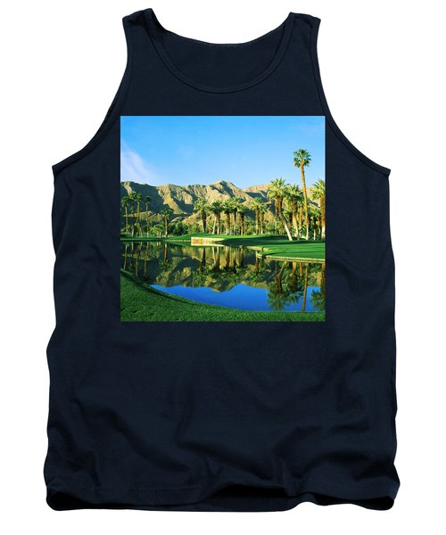 Reflection Of Trees On Water In A Golf Tank Top