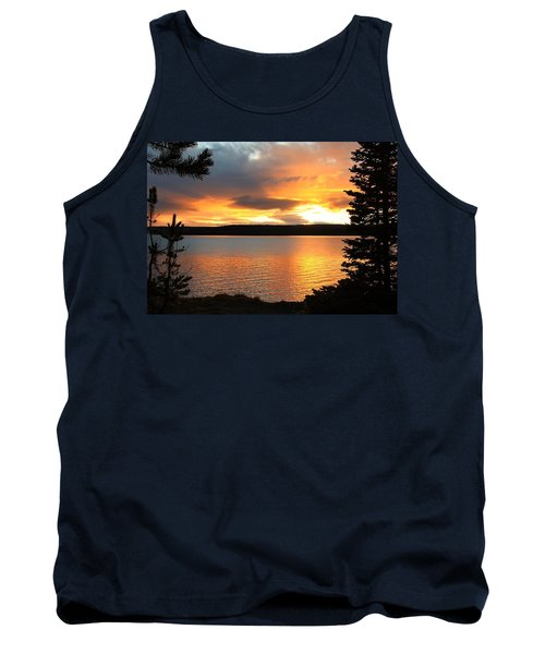 Tank Top featuring the photograph Reflections Of Sunset by Athena Mckinzie