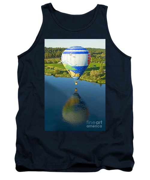 Tank Top featuring the photograph Reflections Over The Dechutes by Nick  Boren
