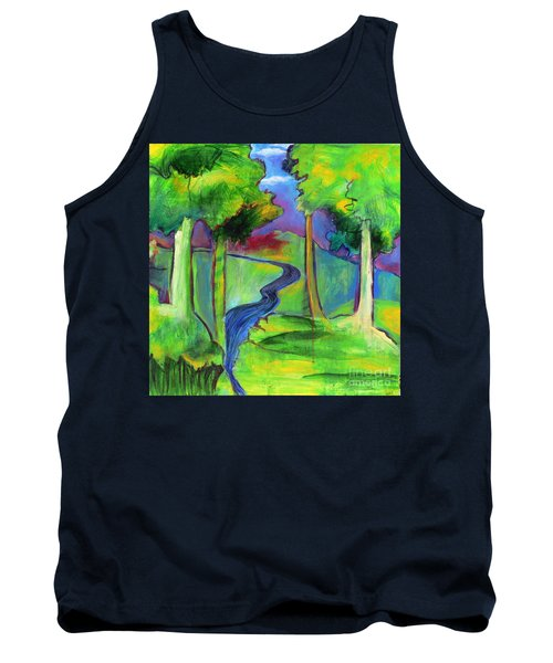 Tank Top featuring the painting Rendezvous Triptych by Elizabeth Fontaine-Barr
