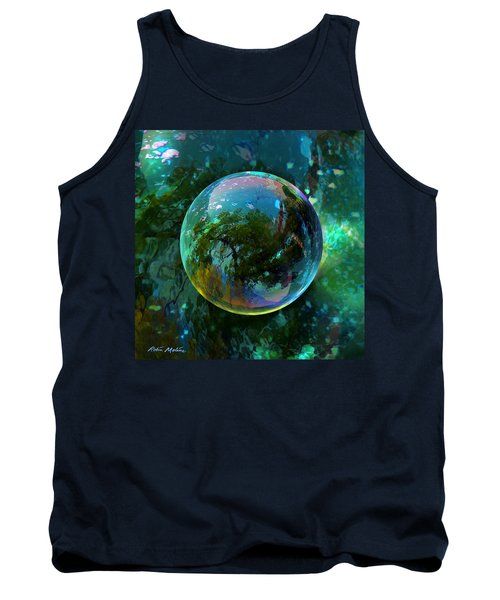 Tank Top featuring the painting Reticulated Dream Orb by Robin Moline