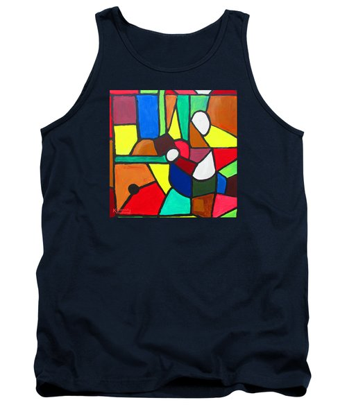 Tank Top featuring the painting Retired Boxer by Mudiama Kammoh