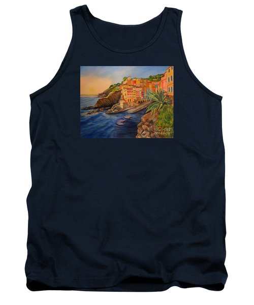 Riomaggiore Amore Tank Top by Julie Brugh Riffey