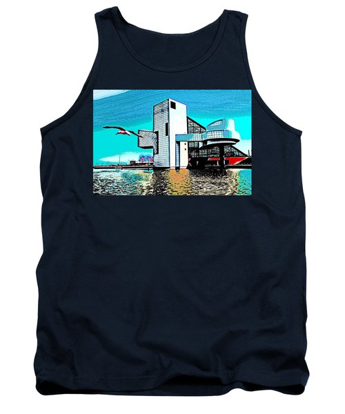 Tank Top featuring the photograph Rock And Roll Hall Of Fame - Cleveland Ohio - 4 by Mark Madere