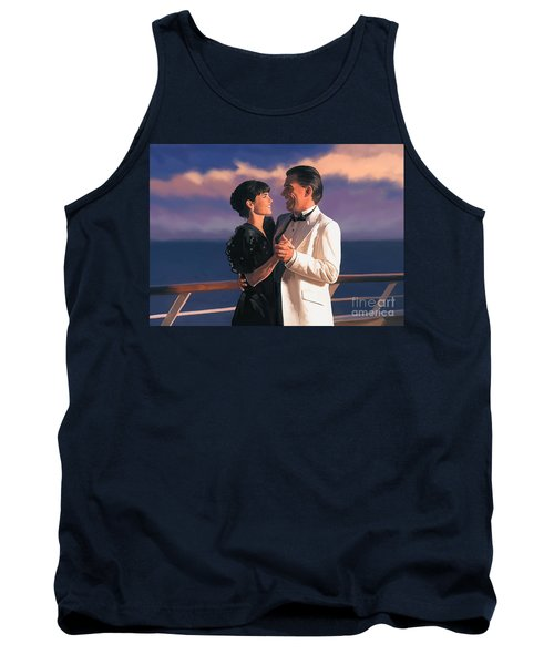 Tank Top featuring the painting Romantic Cruise by Tim Gilliland