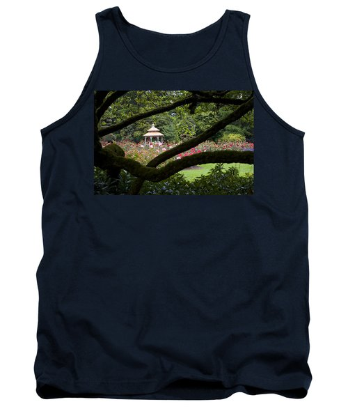 Tank Top featuring the photograph Rose Garden Window by Sonya Lang