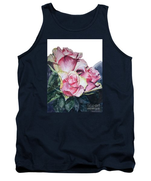 Pink Rose Michelangelo Tank Top by Greta Corens