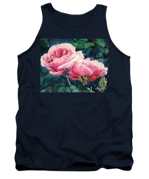 Pink Roses Wildebras Tank Top by Greta Corens