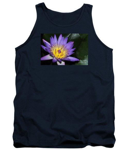 Royal Purple Water Lily #6 Tank Top